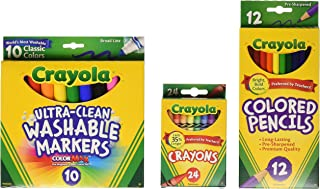 Crayola Back To School Supplies, Grades 3-5, Ages 7, 8, 9, 10 (Amazon Exclusive)