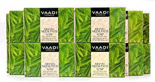 Neem Soap - Handmade Herbal Soap - Pack of 12 (32 Ounces, 2 Pounds) - all Natural - Prevents Premature Aging - Vaadi Herbals