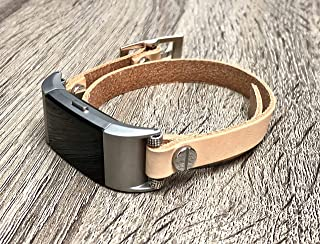 Women Bracelet for Fitbit Charge 2 Band Double Wrap Handmade Fitbit Charge 2 Band Fitbit Charge 2 Jewelry Bracelet Handcrafted Adjustable Fitbit Leather Band for Women
