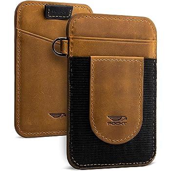 Antimagnético Hombres Cartera Soporte Tarjeta de Crédito de Cuero RFID bloqueo de bolsillo con cremallera