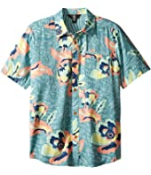 Volcom Kids - Cubano Short Sleeve Woven Top (Big Kids)