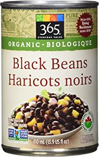 365 Everyday Value Organic Black Beans, 410ml (13.9 fl oz)