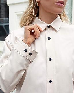 The Drop Women's Beige Loose Long Sleeve Lightweight Jacket by @viktoria.dahlberg, XS