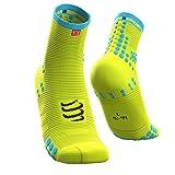 Compressport Herren Racing Sock High Flou Yellow T2 Kompressions Laufsocke, Neon