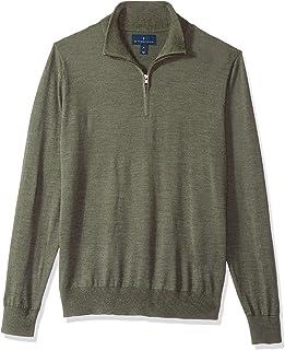 Buttoned Down Men's Italian Merino Cashwool Quarter-Zip Sweater