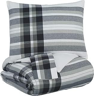 Signature Design by Ashley Q344003K Conforter Set, King, Black/Gray