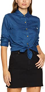 Wrangler Women's Layla Shirt Faded Indigo, Blue