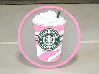 欧州限定 Starbucks スターバックス  コースター 1992ロゴ セイレーン フラペチーノ pink
