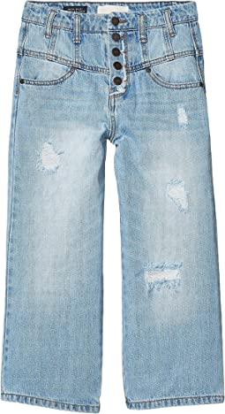 Hadley Multi Snaps Wide Leg Jeans (Big Kids)