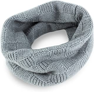 Ladies Checked 100% Cashmere Snood - Light Gray - made in Scotland - RRP $160