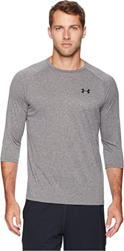 5345b4aae3da9 Under armour ua tech 3 4 sleeve shirt twist stealth gray black ...