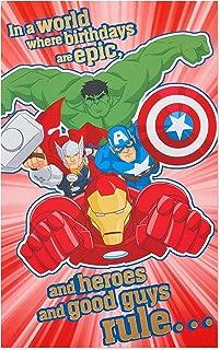 American Greetings Birthday Card for Boy (Avengers)