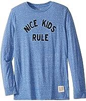 Nice Kids Rule Vintage Tri-Blend Long Sleeve Tee (Big Kids)