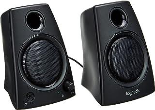Logitech Z130 głośnik komputerowy, dźwięk stereo, 2 głośniki, moc szczytowa 10 W, wejście 3,5 mm, czysty dźwięk, regulator...
