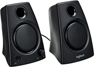 Logitech 980000417 Z130 Compact 2.0 Stereo Speakers, 3.5mm Jack, Black