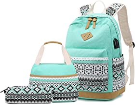 Girls Backpack With Lunch Bag,Gazigo School Backpacks for Teen Girls,3 in 1 Backpack Sets