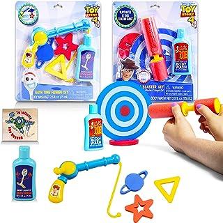 Disney Toy Story Bath Toys Playset Bundle 16 Pc Toy Story Bathtub Toys for Kids Boys Girls with Color Bubble Bath Tubes