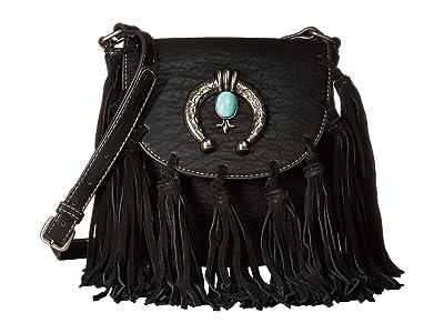 M&F Western Shelby Crossbody (Black) Cross Body Handbags