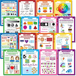 Elements of Art & Principles of Design 16 Poster Set (Paper, 13 x 19)