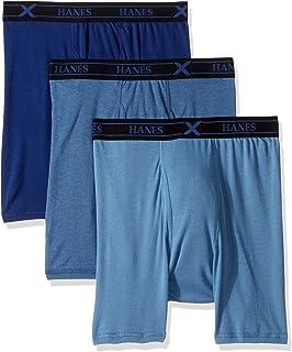Hanes Ultimate Men's 3-Pack X-Temp Comfort Assorted Boxer Briefs, Large