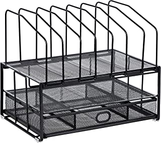 AmazonBasics Mesh Seven Slot File Organizer (Renewed)