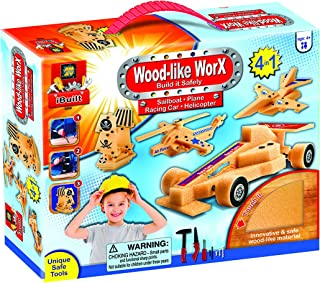 AMAV Toys Wood Like Worx - Build It Safely Multi Color Kit