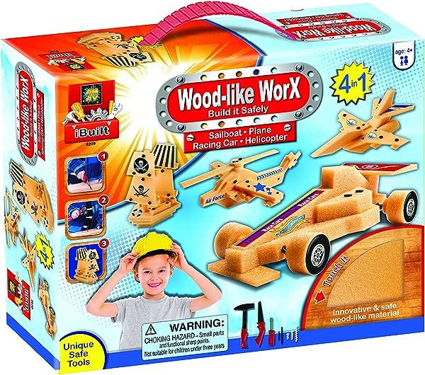 AMAV Toys Wood Like Worx Build It Safely Multi Color Kit