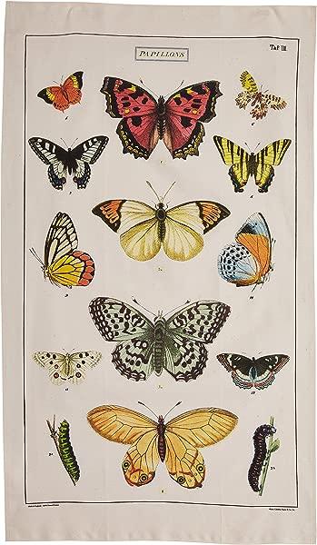 Cavallini Papers Vintage Butterflies Cotton Tea Towel