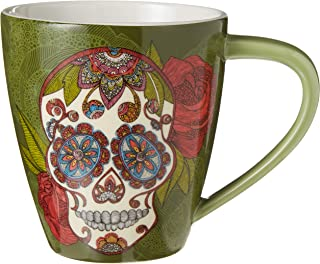 Lang Artisan Sugar Skull Café Mug (10992121055), 17 oz, Multi