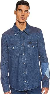 Calvin Klein Jeans Men's Foundation Western Shirt