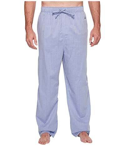 Nautica Big & Tall Big Tall Herringbone Plaid Sleep Pants (Blue Bone) Men