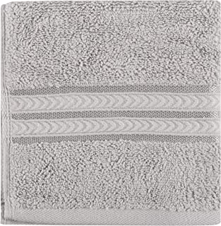 Better Homes and Gardens Thick and Plush Solid Bath Collection, Washcloth Soft Silver