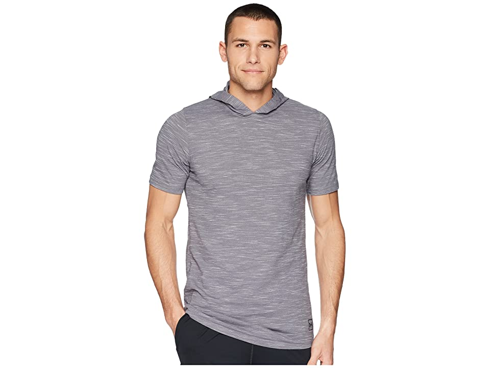 Under Armour Sportstyle Core Short Sleeve Hoodie (Graphite/Black) Men