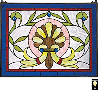 Stained Glass Panel - Prairie Flower Stained Glass Window Hangings - Window Treatments