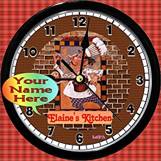 Personalized French Chef Kitchen Wall Clock