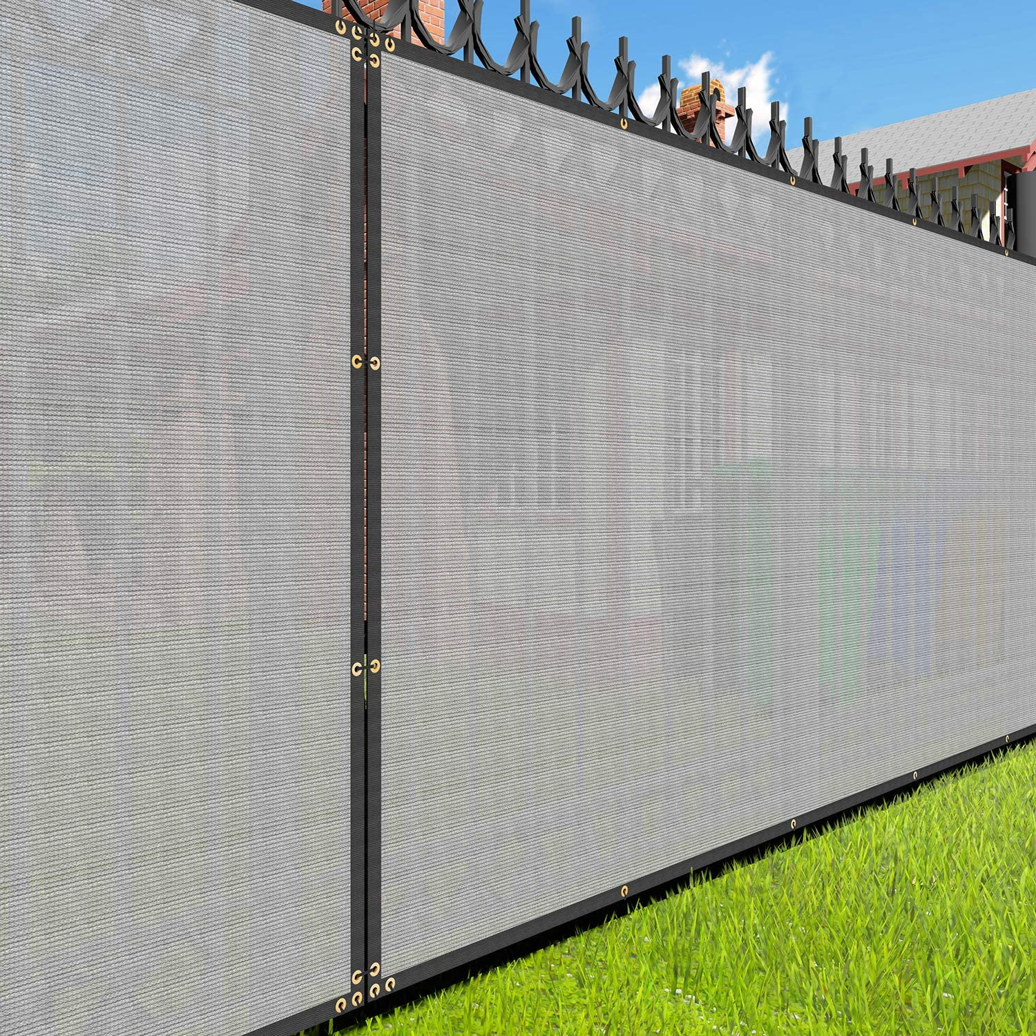 Sales of SALE items from new works EK Sunrise 4' x Finally resale start 8' Grey Outdoo Commercial Screen Privacy Fence