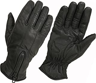 Hugger Ladies Lightly Lined Water Resistant Leather Motorcycle or Driving Glove