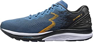 361 Degrees Men's Spire 3 High Performance and Mileage Lightweight Running Shoe, Storm/Ebony, 11