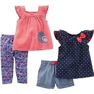 Baby Girls' Infant 4-Piece Playwear Set