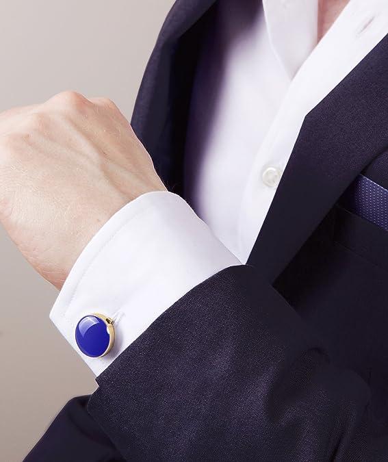 BUTTONCUFF Cubre Botones Negro (Plateado, Dorado) – La Alternativa a Los Gemelos para Camisas