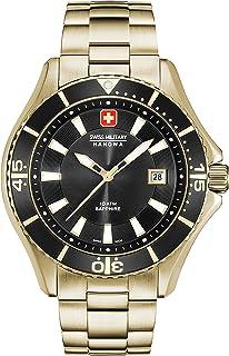 Swiss Military Hanowa - Reloj Analógico para Hombre de Cuarzo con Correa en Acero Inoxidable 06-5296.02.007