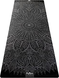 Plyopic All-in-One Yoga Mat | Luxury Sweat-Grip Mat/Towel Combo | Eco-Friendly Natural Rubber | Best for Yoga, Pilates, Ex...