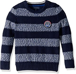 Tommy Hilfiger Adaptive Boys' Big Sweater with Velcro Brand Shoulder Closure