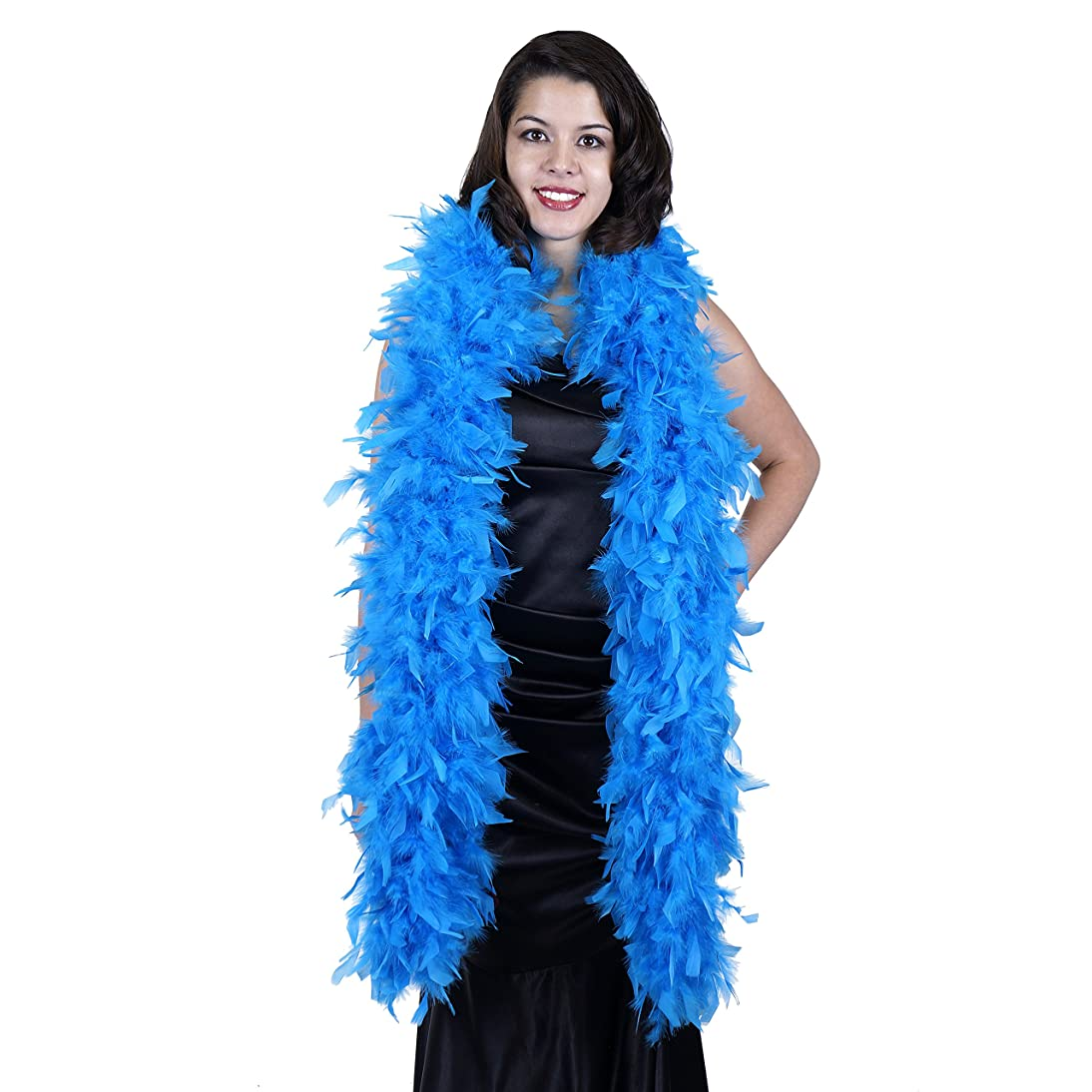 ZUCKER Heavy Weight Chandelle Feather boa Solid Colors - Dark Turquoise
