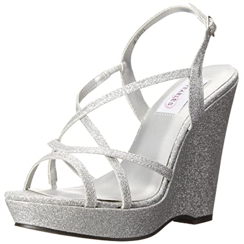7697046473e Silver Wedge Heels: Amazon.com