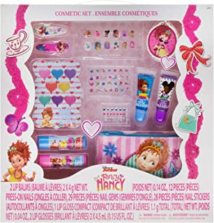 Townley Girl Fancy Nancy Beauty Kit Kids Washable Lip balms glosses press on nails gems stickers barrettes more, Mix, 1 Count