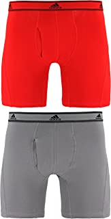 adidas Men's Relaxed Performance Stretch Cotton Boxer Brief Underwear (2 Pack)