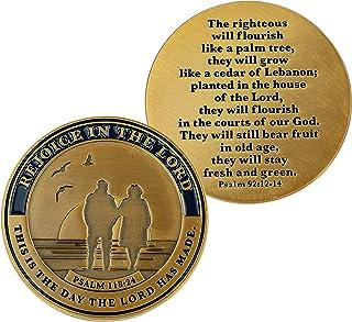 Retirement Coin, Retirement Gifts for Women and Men, Celebratory Commemorative Rejoicing Gift for Seniors, Christian Relig...