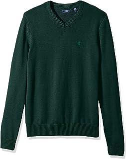 IZOD Men's Long Sleeve Soft Fine Gauge Solid V-Neck Sweater