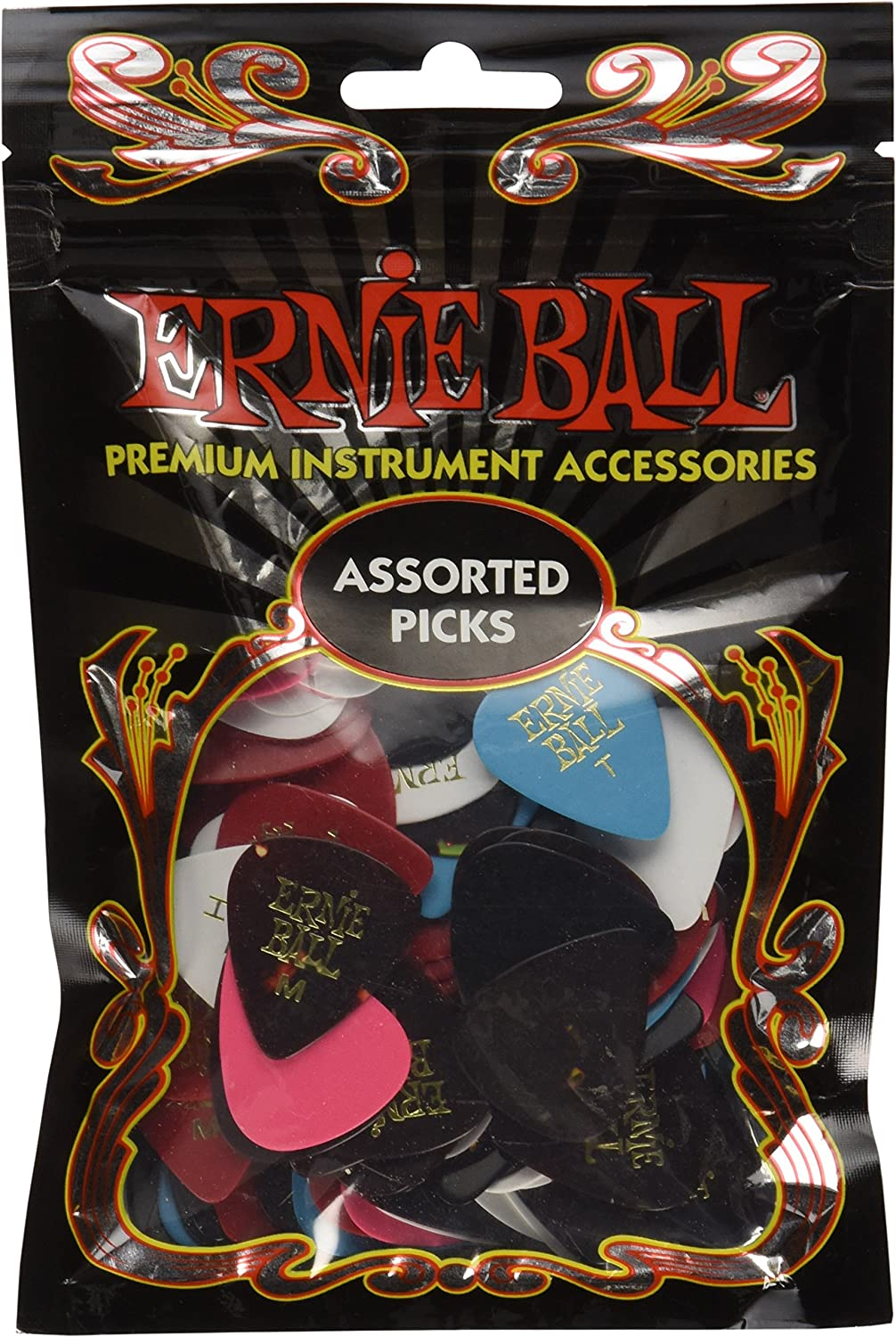 Ernie Ball Assorted Size and Bag Picks 144 Color of Popular shop is the lowest price challenge half